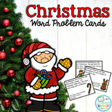 Christmas Word Problem Cards: Addition, Subtraction, Multi
