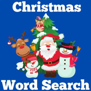 Christmas Activity   Christmas Word Search