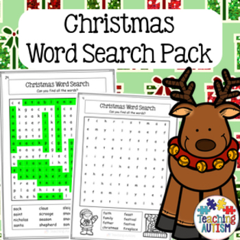 Christmas Activities: Word Search