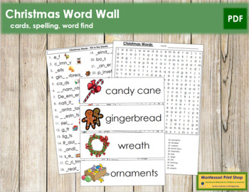 Christmas Word Wall Cards, Plus!