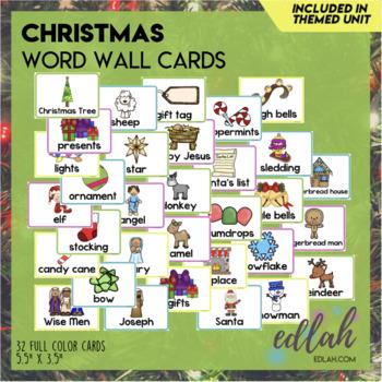Christmas Word Wall Cards (set of 18)