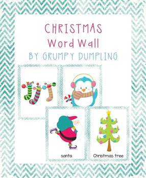 Christmas Word Wall (No text, uppercase and lowercase letters)