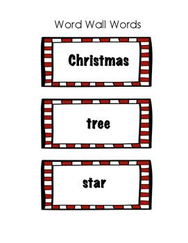 Christmas Word Wall Words Freebie