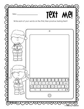 No Prep Christmas Word Work - Word Study / Spelling / Sight Words