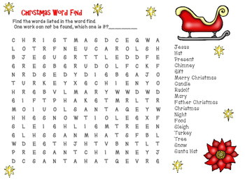 Christmas Wordfinds x2
