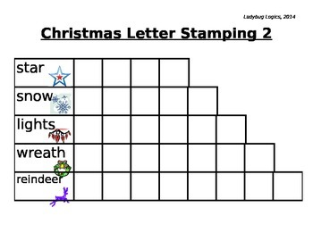 Christmas Words Letter Stamping 2