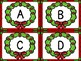 Christmas Wreath  Alphabet Letter Flashcards Uppercase and