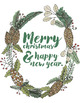 Christmas Wreath ClipArt, Flower Holiday Graphics, Pointse