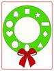 Christmas Wreath Shape Match -- PreK File Folder Game