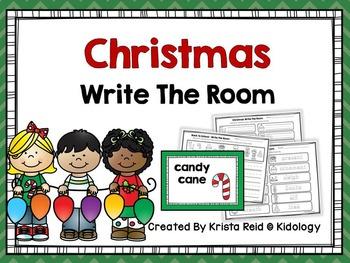 Christmas Write The Room - Literacy Activity