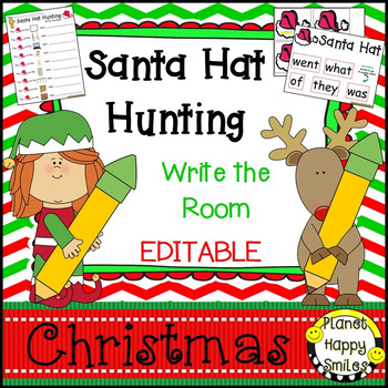 Christmas Activity ~ Christmas Write the Room (EDITABLE)