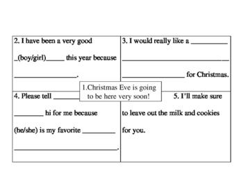 Christmas Writing Activity