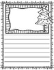 Christmas Writing Center Display Word Cards and Writing Paper