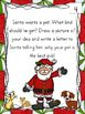 Christmas Writing Center Prompts for Kindergarten through
