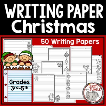 Christmas Writing Paper 3rd-5th