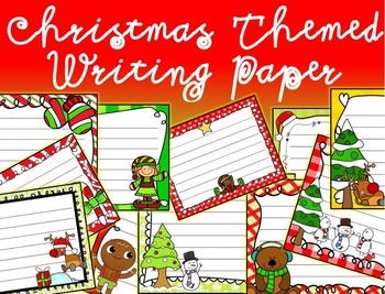 Christmas Writing Paper Pack - Holiday Themed Paper