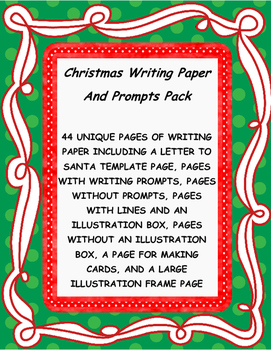 Christmas Writing Paper and Prompts Pack