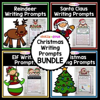Christmas Writing Prompt BUNDLE - 30% OFF