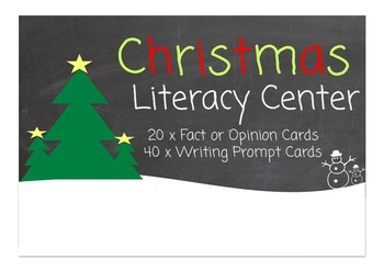 Christmas Writing Prompts Literacy Center