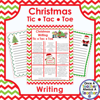 Christmas Writing - Tic Tac Toe