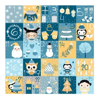 Christmas advent calendar, Advent numbers, Christmas count