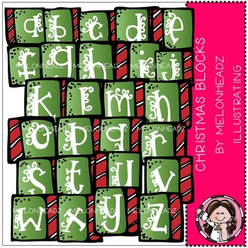 Melonheadz: Christmas alphabet blocks clip art - COMBO PACK