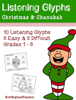 Christmas and Chanukah Listening Glyphs for Elementary Mus