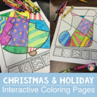Interactive Christmas Coloring Pages + Writing - a great Christmas Activity!