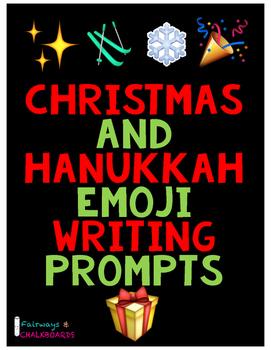 Christmas and Hanukkah Emoji Prompts
