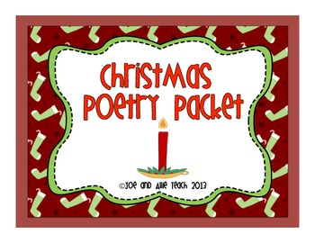 Christmas and Winter Acrostic Poetry Packet
