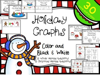 Christmas and Winter Graph Questions with Recording Sheets