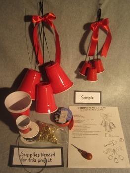 Christmas bells. Fun 3D Craft Art. FREE