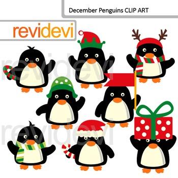 Christmas clip art: December penguins clipart