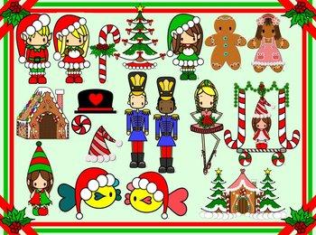 Christmas clip art- Teachers -Elves-Nutcracker and more