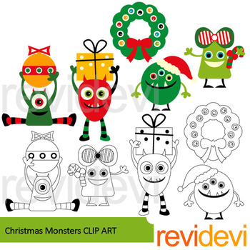 Christmas clip art - monsters