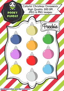 Christmas clipart - Ornaments Freebie