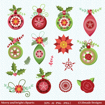 Christmas clipart, Winter clipart
