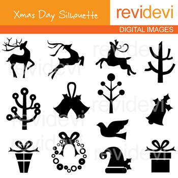 Christmas clip art: silhouette