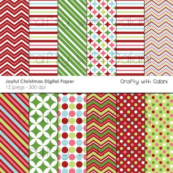 Christmas digital paper, Christmas digital background, Chr