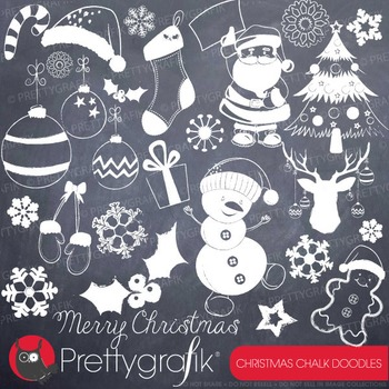 Christmas doodles clipart commercial use, vector graphics,