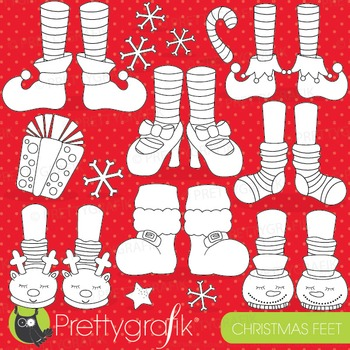 Christmas feet stamps commercial use, vector graphics, ima