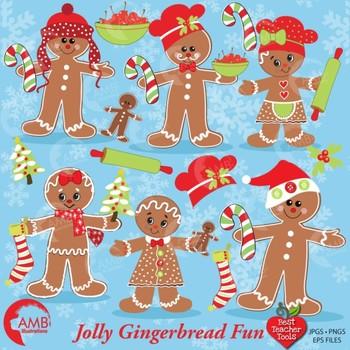 Christmas gingerbread clipart AMB-377