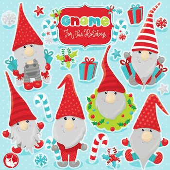 Christmas gnomes clipart commercial use, vector graphics,