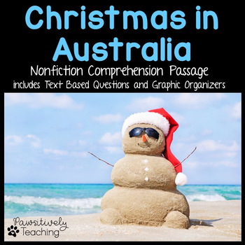 Christmas in Australia Reading Passage Nonfiction Text & Q