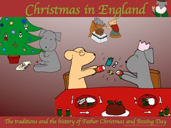 Christmas in England, the History of Father Christmas and