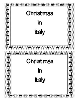 Christmas in Italy Book