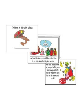 Christmas in Italy with Befana 8pg English only coloring r