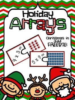 Holiday Arrays! Multiplication Puzzle Workstation