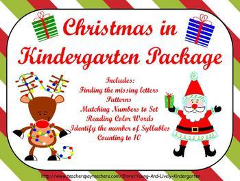 Christmas in Kindergarten Package for ActivBoard