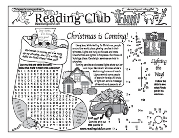 Christmas is Coming Two-Page Activity Set